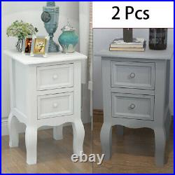 1//2 pcs Bedside Cabinet Chipboard Chest of Drawers Nightstand Bedroom Furniture