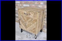 1 Drawer 1 Door Cabinet Mango Wood Bedside Living Room Storage Unit New Table