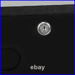 2 Drawers Filing Cabinet Under Desk Office Storage withWheel Bedside Table Lock