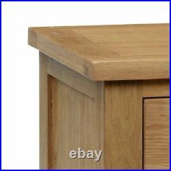 3 Drawer, Marlborough Oak Wood Traditional Bedside Cabinet Bedroom Storage