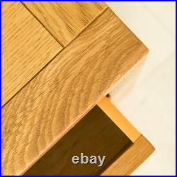 Abbey Waxed Oak Bedside Table 3 Drawer Solid Wood Cabinet Bedroom Side Storage