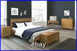 Alba Oak 3 Drawer Bedside Table Storage Cabinet Solid Wood Side Lamp Nightstand