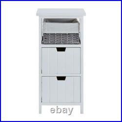 Bedroom Bedside Bathroom Table Cabinet Nightstand Storage Unit Wooden Wicker New