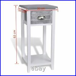 Bedside Cabinet Nightstand Telephone Table with 1 Drawer Storage Home Furniture