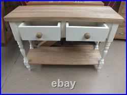 Buckingham Painted 2 Drawer Console Table Storage Bespoke Sizes & Colours Oak