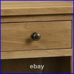 Cabinet Wood Marlborough Oak Traditional 1 Drawer Bedside Bedroom Storage
