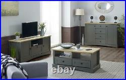 Carden Living Room Coffee Table TV Unit Sideboard Storage Cabinet Dark Grey