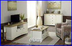 Carden Living Room Coffee Table TV Unit Sideboard Storage Cabinet White