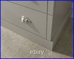 Chest of 2+3 Drawers Bedroom Furniture Cabinet Storage Bedside table grey