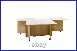 Comfort 4 Sewing Machine Cabinet Overlock Desk Hobby Storage Patchwork Table