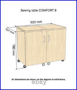 Comfort 8 Sewing Machine Cabinet Overlock Desk Hobby Storage Craft Table