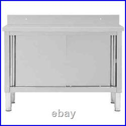 Commercial Catering Table Storage Bench Kitchen Prep Worktop Steel Cabinet New