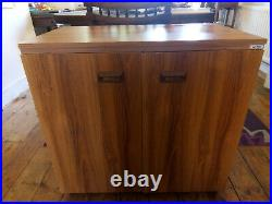 Convertible Horn Sewing Cabinet Table Storage Unit on Wheels Australian Made 30
