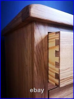 Dolcea Original Oak Bedside Table Cabinet 3 Drawers Solid Wood Bedroom Storage