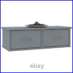 Floating Bedside Table Nightstand Wall Mounted Shelf 2/3 Drawers Storage Cabinet