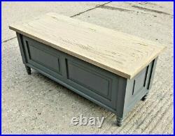 Grey Coffee Table / Ottoman Style / Storage Box / Wood / Cabinet / Box / New