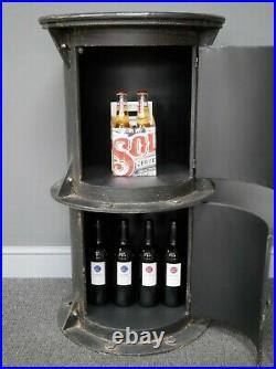Industrial Bar Table Vintage Retro Storage Side Cabinet Rustic Metal Tall Wine