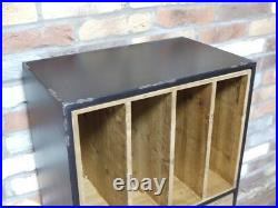 Industrial Filing Cabinet Retro Side Table Storage Rustic Office Cupboard New