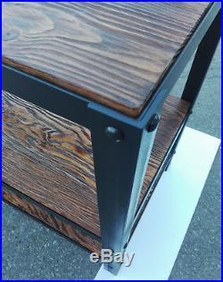 Industrial Kitchen Island Wood Storage Shelf Cabinet Unit Home Furniture Table