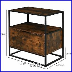 Industrial Side Cabinet Vintage Storage Sideboard Rustic Hallway Console Table