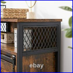 Industrial Storage Cabinet Small Rustic Sideboard Vintage Console Table Cupboard