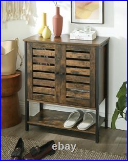 Industrial Storage Cupboard Vintage Retro Side Cabinet Rustic Door Console Table