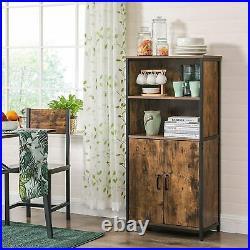 Industrial Storage Sideboard Large Rustic Cabinet Vintage Metal Console Table
