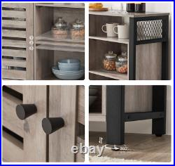 Industrial Storage Sideboard Rustic Grey Cabinet Vintage Hallway Console Table