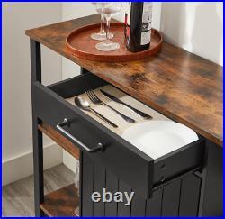 Industrial Storage Sideboard Rustic Metal Console Table Vintage Cabinet Unit