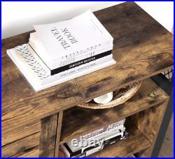 Industrial Storage Sideboard Vintage Console Table Hallway Rustic Metal Cabinet