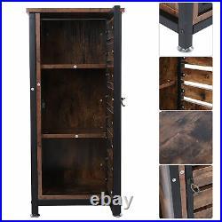 Industrial Style Storage Cabinet Slim Cupboard Unit Small Sideboard Vintage Wood
