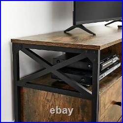 Industrial Style TV Unit Stand Rustic Sideboard Storage Media Cabinet Long Table