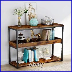 Industrial Vintage Console Table Rustic Slim Hallway Cabinet Lounge Storage Unit