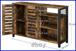 Industrial Vintage Storage Sideboard Console Table Hallway Rustic Metal Cabinet