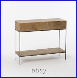 John Lewis & Partners Industrial Storage Console Table Raw Mango RRP £529