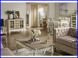 Juliette Living Room Furniture -Tables Storage Cabinets Chairs- Cream and Pine