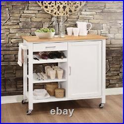 Kitchen Island Bar Sideboard Trolley Breakfast Serving Table Storage Cabinets UK