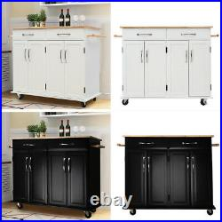 Kitchen Island Unit Butchers Block Trolley Breakfast Bar Table Storage Cabinet Storage Cabinet Table