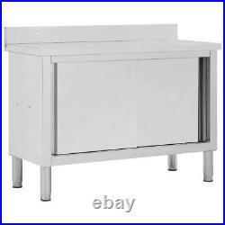 Kitchen Work Table Restaurant Cupboard Canteen Storage Cabinet Stainless Steel