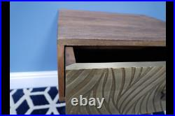 Mango Wood Brass Bedside Cabinet 1 Door Night Stand Storage Side Unit Lamp Table