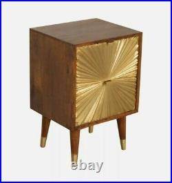 Manila Gold Bedside Table Drawer Bedroom Furniture Cabinet Storage