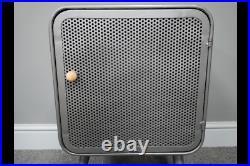 Metal Industrial Bedside Cabinet Lamp Table Single Door Storage