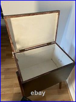 Mid-century pair similar vintage box storage bedside tables cabinets rare teak