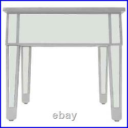 Mirrored Glass Coffee Table Side Cabinet with Storage Drawers Venetian Style UK