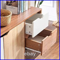 Modern 2 Door 3 Drawer Storage Cabinet Sideboard Table Cupboard Organiser Home