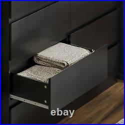 Modern 8 Drawer Chest of Drawers Cabinet Bedroom Furniture Storage Table Black