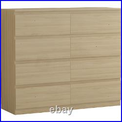 Modern 8 Drawer Chest of Drawers Cabinet Bedroom Furniture Storage Table Pine