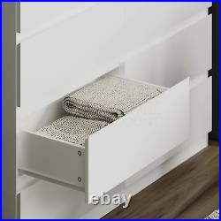 Modern 8 Drawer Chest of Drawers Cabinet Bedroom Furniture Storage Table White