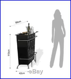 Modern Bar Cabinet Drinks Home Furniture Wine Bottle Holder Rack Storage Table