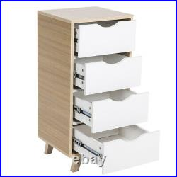 Modern Chest of Drawers Bedside Table Cabinet 4 Drawer Bedroom Storage Unit Wood